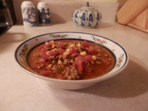Taco soup...warms you up every time!