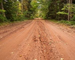 red dirt road
