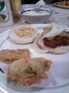 Slug burgers & fried pickles