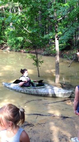 Kayaking like a boss.