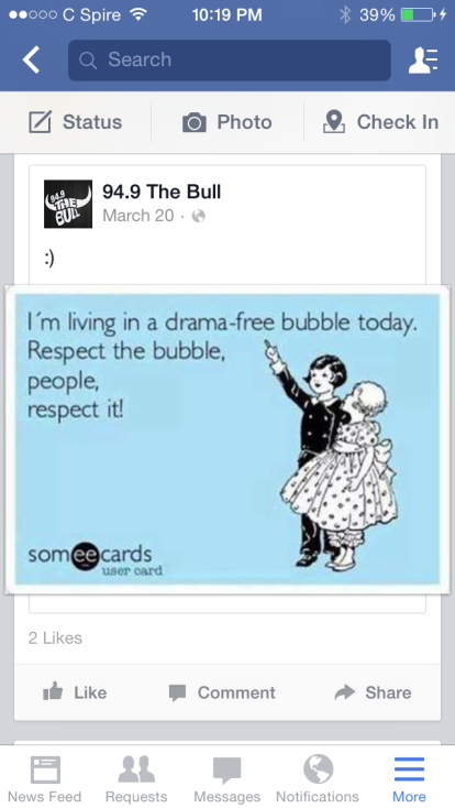 respect the bubblw