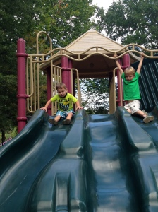 Now let's get to sliding down the slide!