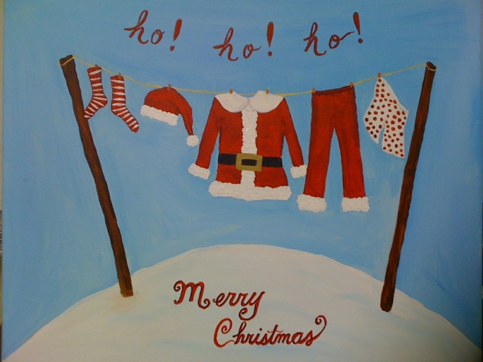 Christmas clothes line, 2010