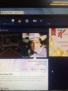 George Strait on my Pandora.  It's the little things.