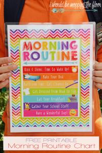 free printable morning routine chart