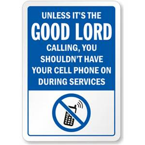 cell phone church