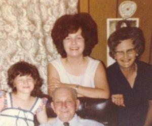 Me, Mama, Mamaw, & Papaw circa 1978
