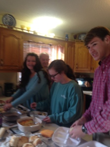 We started with Thanksgiving breakfast.