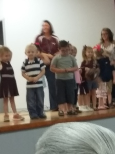We went to see Mr. Sweetie Pants in his Grandparent's Day program a couple of weeks ago. Cutest thing ever!