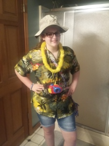 Tacky Tourist Spirit Day at school this week. It was homecoming & we were ready in costume.