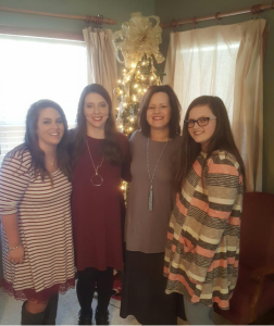 Me & my girls (and yes I cropped out me wearing houseshoes. #gladmamawcouldmakeit)